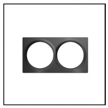 FIBARO Walli Double Cover Plate - Antraciet