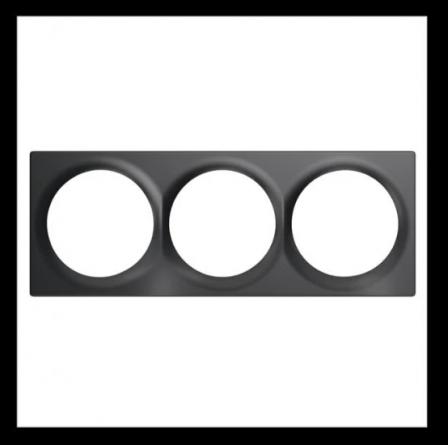 FIBARO Walli Triple Cover Plate - Antraciet