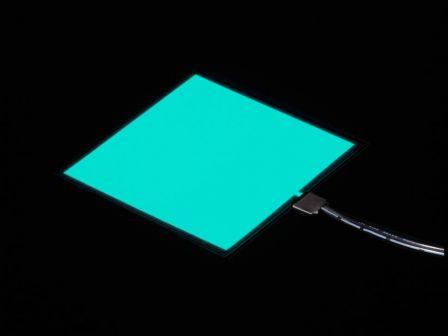 Electroluminescent (EL) Panel - 10cm x 10cm Aqua