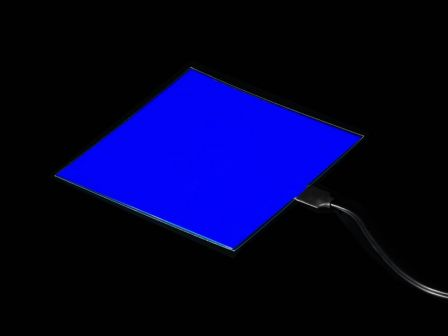 Electroluminescent (EL) Panel Starter Pack - 10cm x 10cm Blue