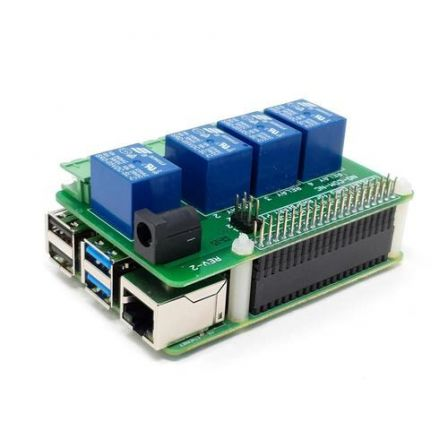 4-Relay Heavy Duty Stackable Card for Raspberry Pi