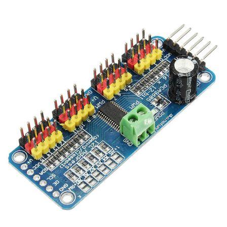 16-Channel 12-Bit PWM/Servo Drive Shield Module I2C PCA9685 voor Arduino