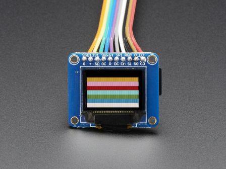OLED Breakout Board - 16-bit Color 0.96' w/microSD holder