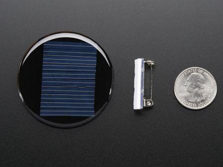 Round Solar Panel Skill Badge - 5V / 40mA