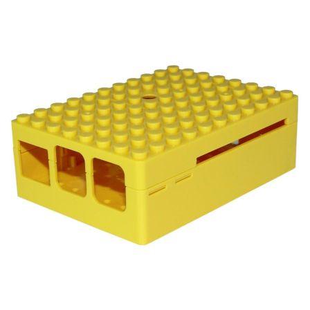 Pi-Blox Behuizing voor LEGO en Raspberry pi B+ / 2B / 3B Geel
