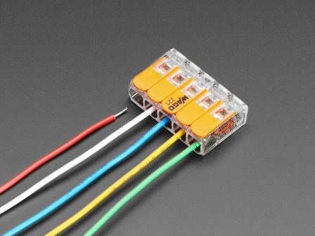Snap-action 5-Wire Block Connector (12-28 AWG) - Pack of 3