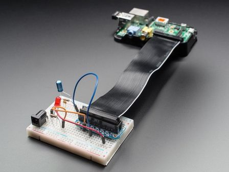 Adafruit Assembled Pi Cobbler Breakout + Cable for Raspberry Pi