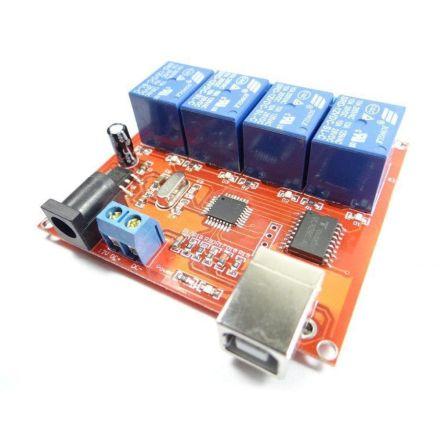 4 x Relais 12Volt USB NO / NC