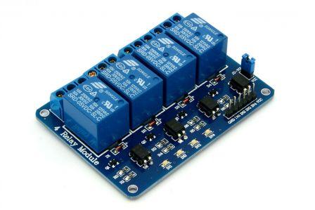 Relais Module 5V 10A - 4 Kanaals