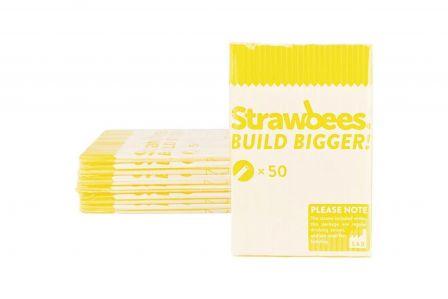 Strawbees Rietjes - Geel (50 stuks)