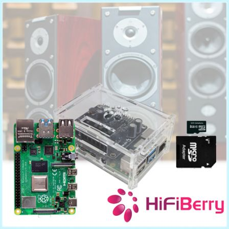HifiBerry AMP2 Kit (Kitje om speakers aan te sluiten) met Raspberry Pi 4 2GB / 4GB