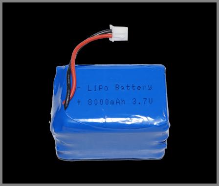 Pico LiPo batterij 8000 mAh met bevestigingsbeugeltje