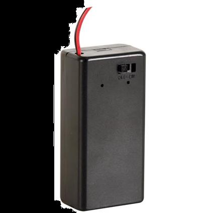 Batterijhouder voor 9Volt Batterij met On/Off Schakelaar