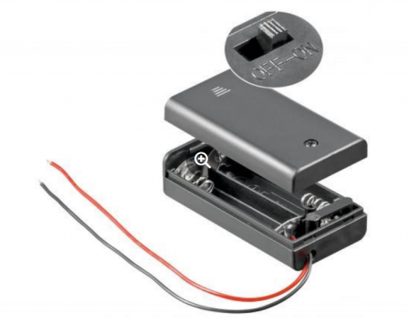 Batterijhouder 2x AA Batterij - 1.5V