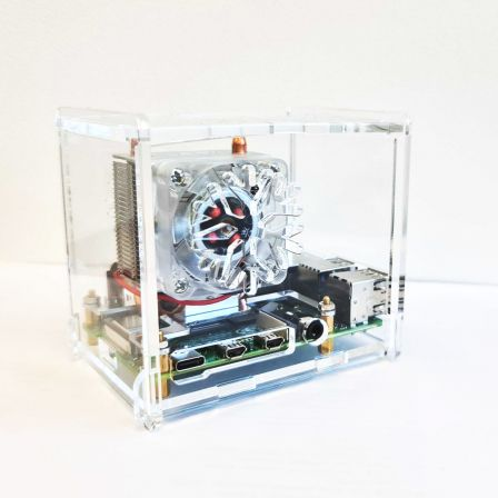 Behuizing voor ICE Tower en Raspberry PI 4B - Transparant