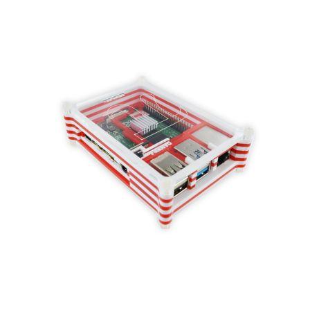 Raspberry Pi 4B Behuizing - Rood / Wit