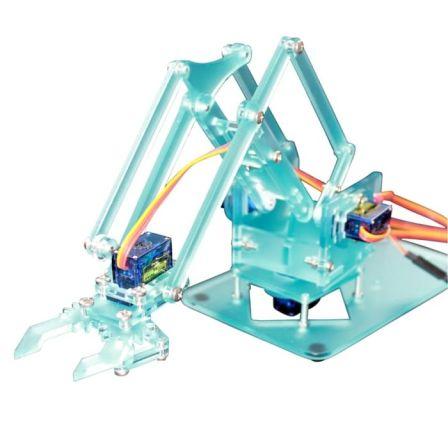 Mini Robot Arm compleet met Servos - LICHTBLAUW