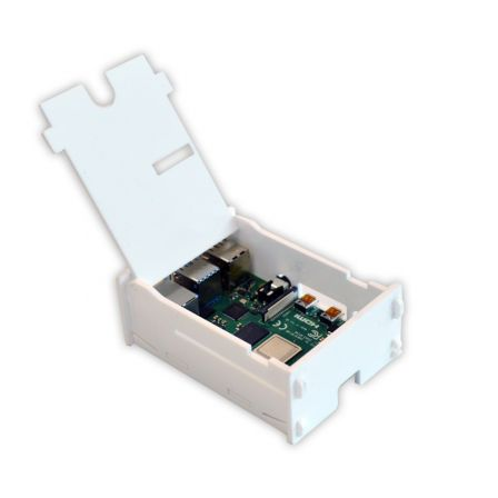 Behuizing voor Raspberry PI 4 met klepje - Wit