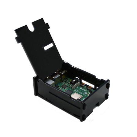 Behuizing voor Raspberry PI 4 met klepje - Zwart