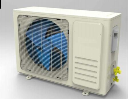 Airco Split Unit 2,6 KW 9000BTU + Inverter (Koelen en verwarmen)