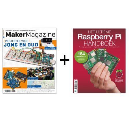 -ACTIE- Het Ultieme Raspberry Pi Handboek 2019 + Maker Magazine 2019 bundel