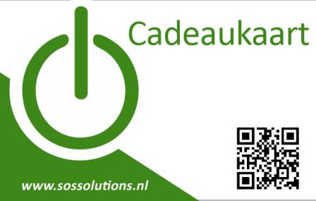 Cadeaukaart € 100,- SOS Solutions