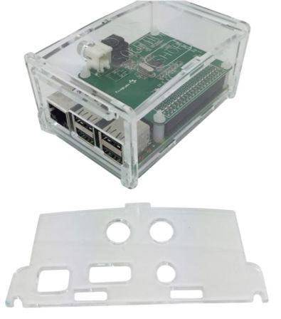 Behuizing voor alle Hifiberry + boards zoals Digi+ en RCA+ Doorzichtig