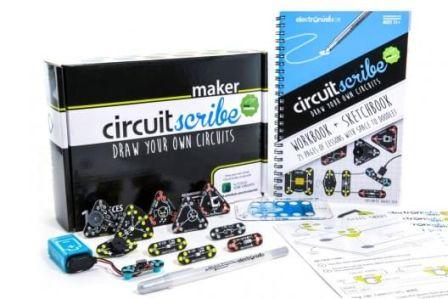 CircuitScribe Maker Kit 17-delig met Boekje Zilver