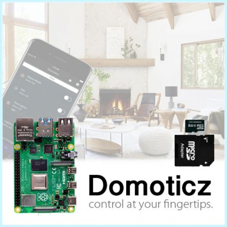 Domoticz Starter Kit met Raspberry Pi 4 2GB / 4GB / 8GB