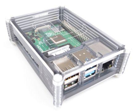 Raspberry Pi 4B Behuizing - Smoke Grey