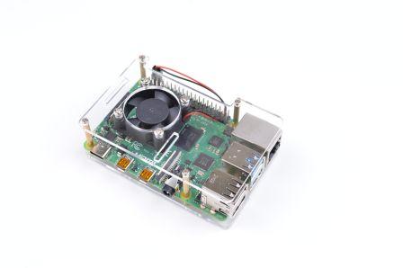Raspberry Pi Behuizing inclusief Ventilator - Transparant