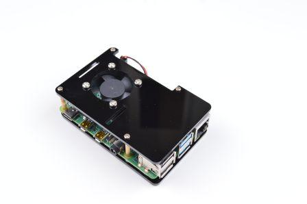 Raspberry Pi Behuizing inclusief Ventilator - Zwart