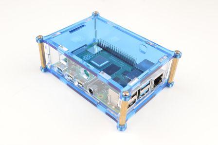 Raspberry Pi 4 Behuizing - Blauw