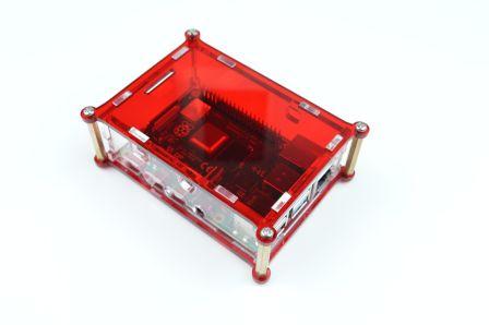 Raspberry Pi 4 Behuizing - Rood