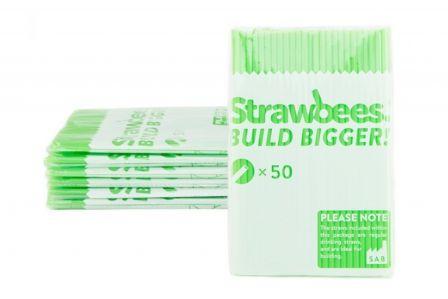 Strawbees Rietjes - Groen (50 stuks)
