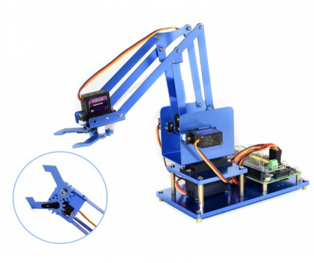 Waveshare Metalen 4-DOF Robot Arm Kit voor Raspberry Pi met Bluetooth / Wifi