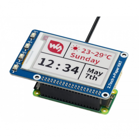 2.7inch E-Ink Display HAT 264x176