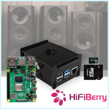 Hifiberry Audio Kit met Raspberry Pi 4 2GB / 4GB / 8GB