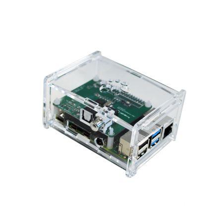Behuizing voor Pi 4B HifiBerry Digi+/RCA+ - Transparant