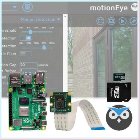 IP Camera Kit met Raspberry PI 4 2GB / 4GB / 8GB