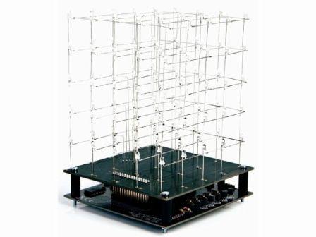 Velleman 3D Led Kubus 5x5x5 Blauwe LED K8018B