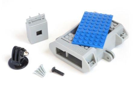 SmartiPi LEGO Behuizing + Camera behuizing + GoPro Mount Blauw