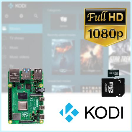 Kodi TV Box met Raspberry Pi 3B+