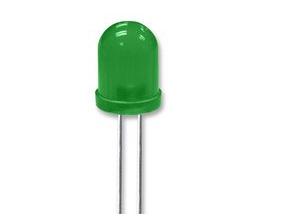 10 x LED 10mm Groen diffuus