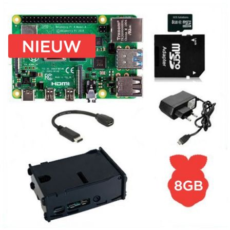 Raspberry Pi 4 Model B / 8GB Starter Kit compleet