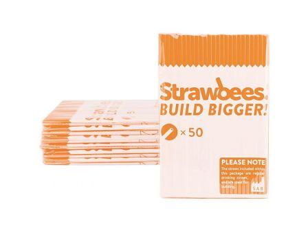 Strawbees Rietjes - Oranje (50 stuks)