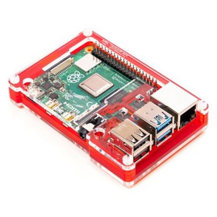 Pibow 4 Coupé Case voor Raspberry Pi 4B - Rood