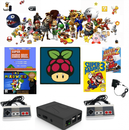Raspberry Pi 3 B+ Retro Nintendo Game Console Emulator