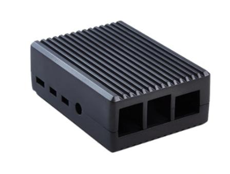 Solide Aluminium Behuizing voor Raspberry Pi 4B - Zwart