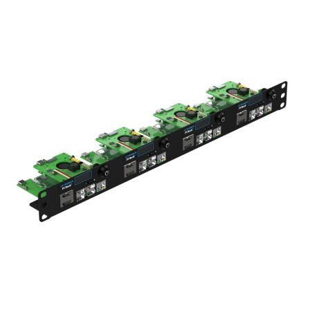 """UCTRONICS Ultimate Rack with PoE Functionality for Raspberry Pi 4, 19"""" 1U Rackmount with PoE HAT, All IO on One Side, OLED Display, Power Switch, and Cooling Fan"""